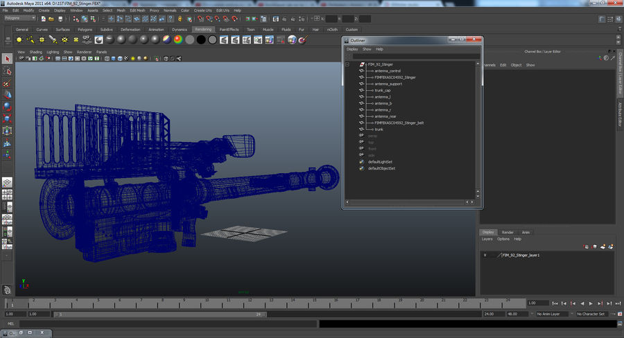 FIM-92 Stinger 3D Model royalty-free 3d model - Preview no. 16