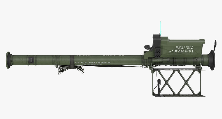 FIM-92 Stinger Rigged 3D Model royalty-free 3d model - Preview no. 9
