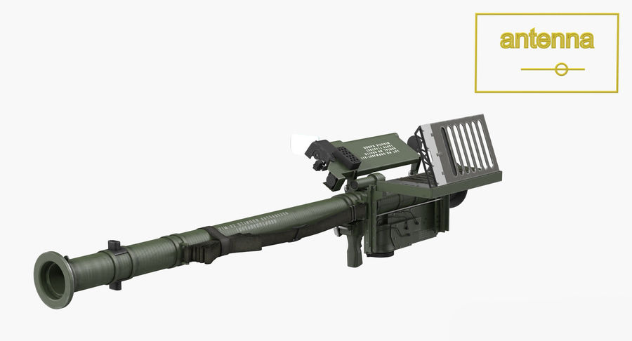 FIM-92 Stinger Rigged 3D Model royalty-free 3d model - Preview no. 11