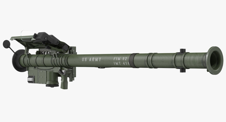 FIM-92 Stinger Rigged 3D Model royalty-free 3d model - Preview no. 3