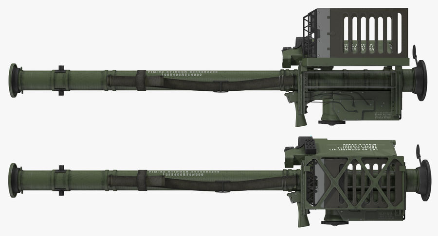 FIM-92 Stinger Rigged 3D Model royalty-free 3d model - Preview no. 13