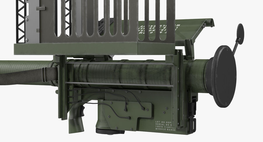 FIM-92 Stinger Rigged 3D Model royalty-free 3d model - Preview no. 29