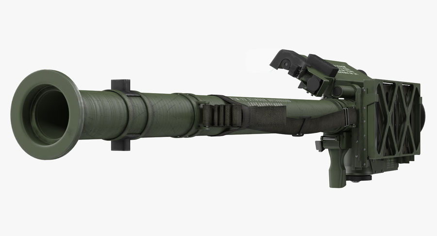 FIM-92 Stinger Rigged 3D Model royalty-free 3d model - Preview no. 7