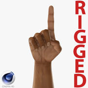 African Man Hands 2 Rigged for Cinema 4D 3D Model 3d model