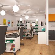 现代办公空间 3d model