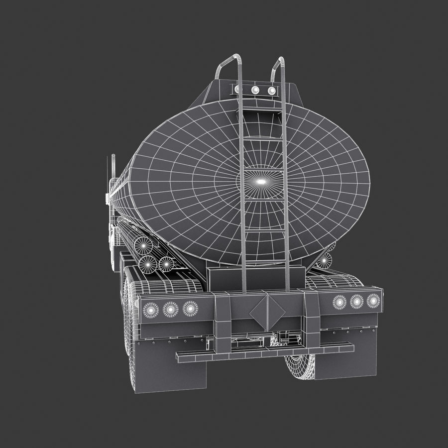 タンカートラックV1 royalty-free 3d model - Preview no. 17