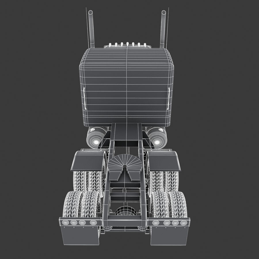 タンカートラックV1 royalty-free 3d model - Preview no. 36
