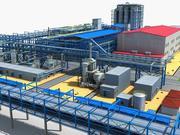 Planta química 01 3d model
