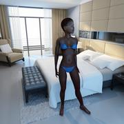 Siyah Kadın Arma 3d model