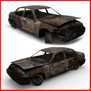 Förstört (bränd) bil 3d model
