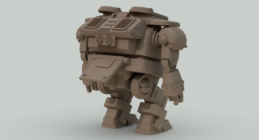 Robot walczący Grizzly M8 royalty-free 3d model - Preview no. 18