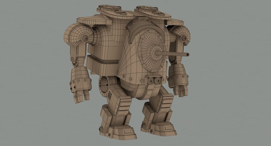 Robot walczący Grizzly M8 royalty-free 3d model - Preview no. 13