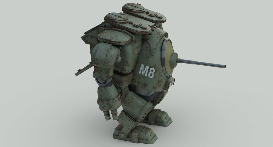 Robot walczący Grizzly M8 royalty-free 3d model - Preview no. 11