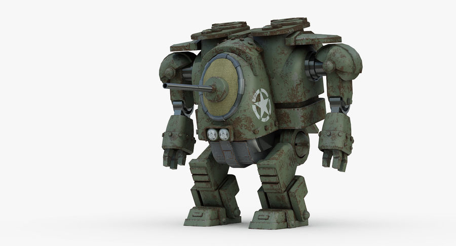 Robot walczący Grizzly M8 royalty-free 3d model - Preview no. 2
