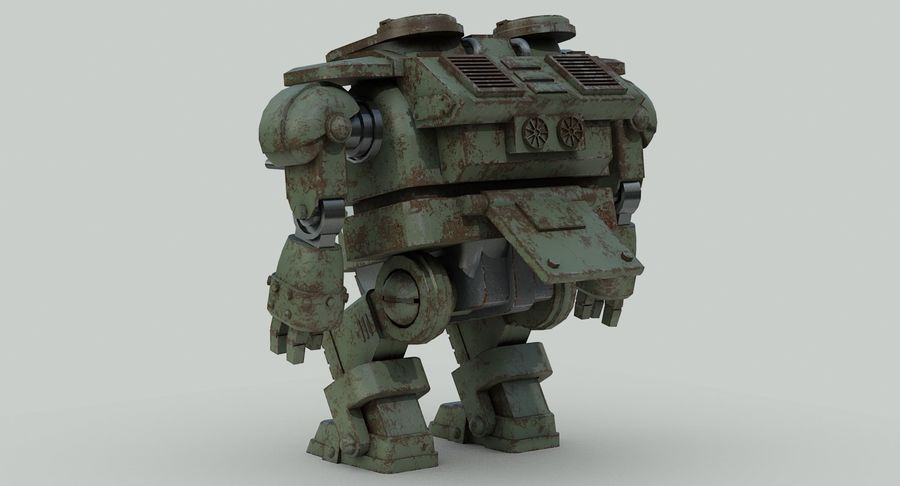 Robot walczący Grizzly M8 royalty-free 3d model - Preview no. 8