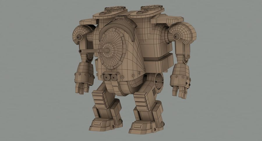 Robot walczący Grizzly M8 royalty-free 3d model - Preview no. 12
