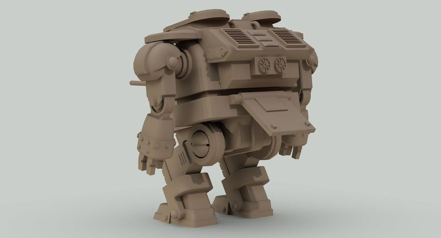 Robot walczący Grizzly M8 royalty-free 3d model - Preview no. 19
