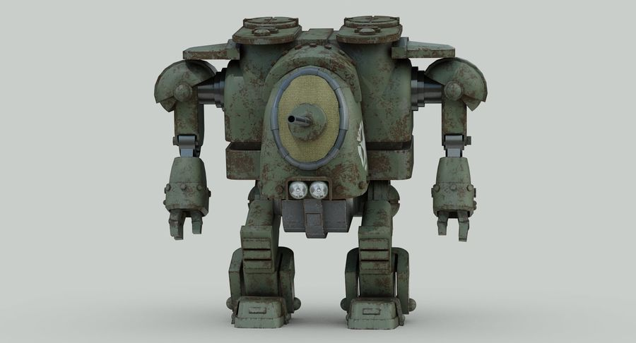 Robot walczący Grizzly M8 royalty-free 3d model - Preview no. 5