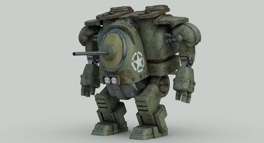 Robot walczący Grizzly M8 royalty-free 3d model - Preview no. 6