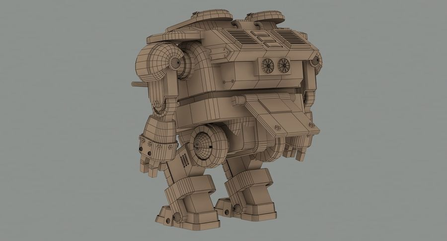 Robot walczący Grizzly M8 royalty-free 3d model - Preview no. 15