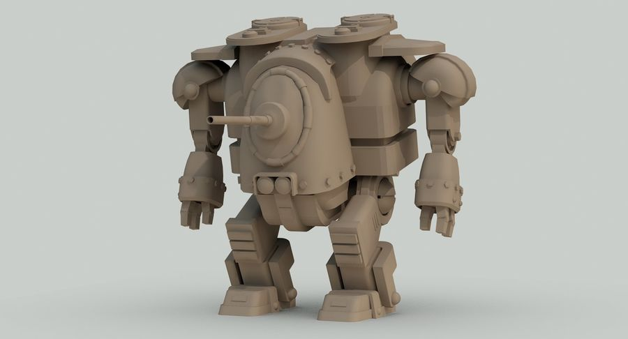 Robot walczący Grizzly M8 royalty-free 3d model - Preview no. 16