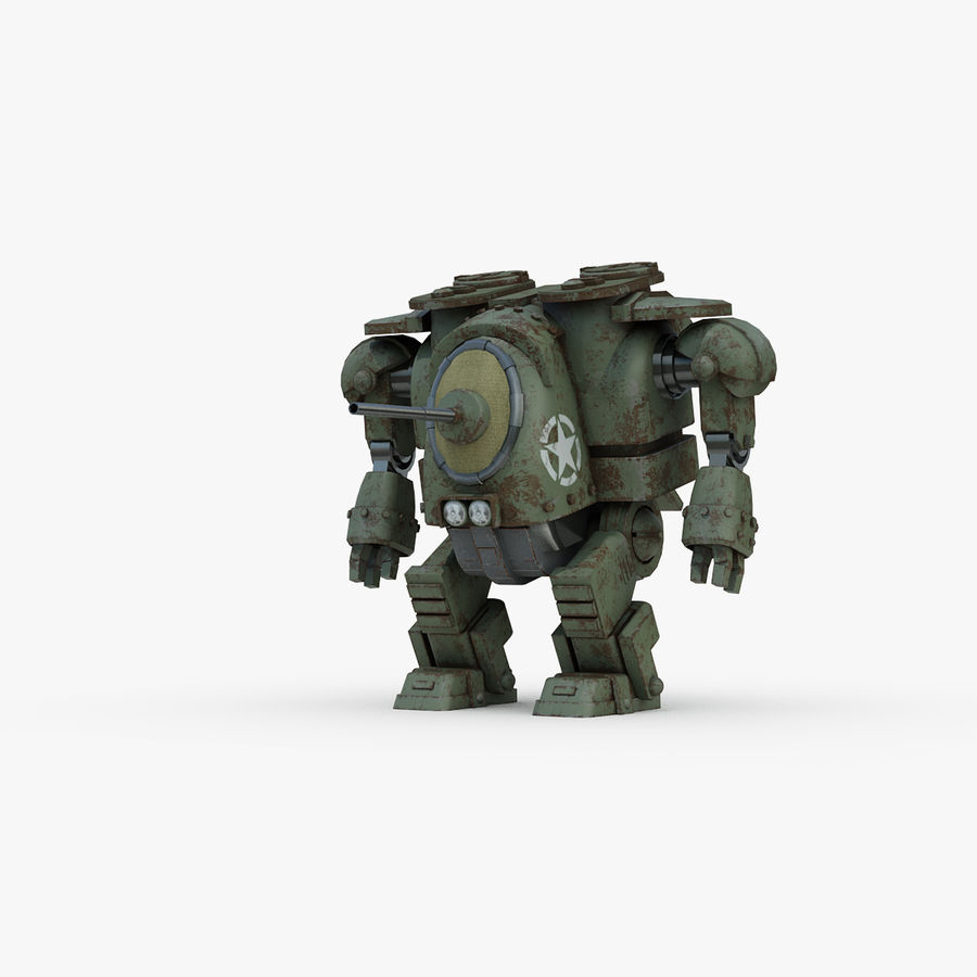 Robot walczący Grizzly M8 royalty-free 3d model - Preview no. 1