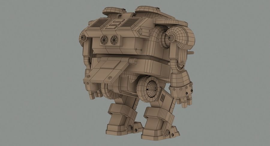 Robot walczący Grizzly M8 royalty-free 3d model - Preview no. 14