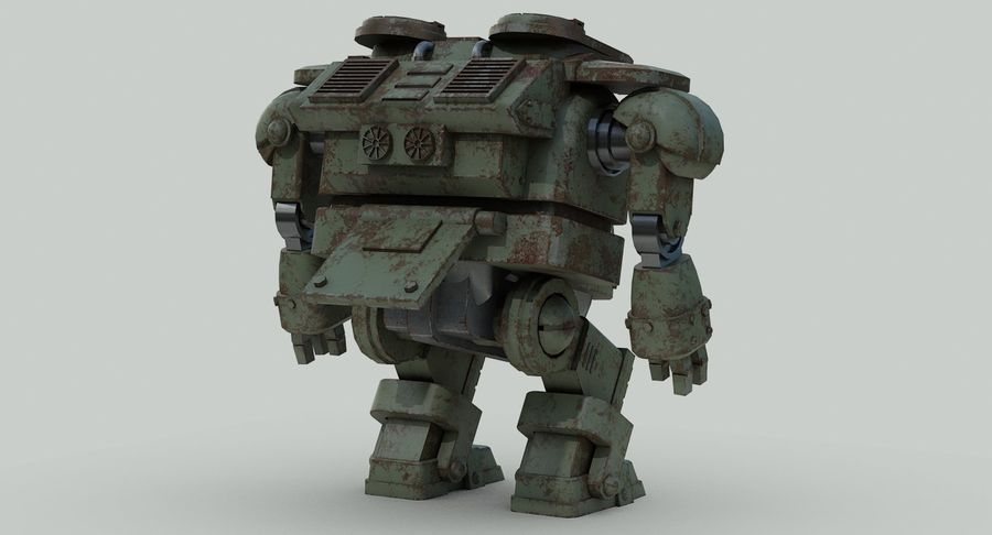 Robot walczący Grizzly M8 royalty-free 3d model - Preview no. 9
