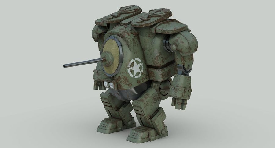 Robot walczący Grizzly M8 royalty-free 3d model - Preview no. 10