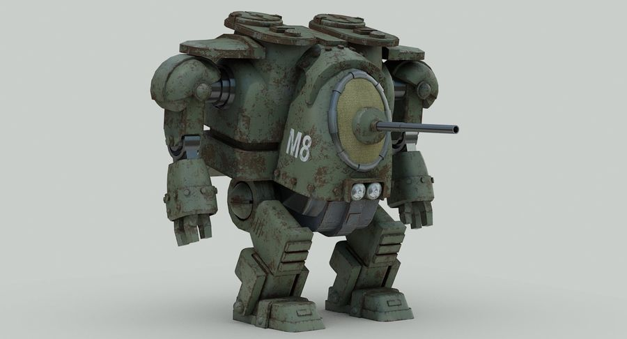 Robot walczący Grizzly M8 royalty-free 3d model - Preview no. 4