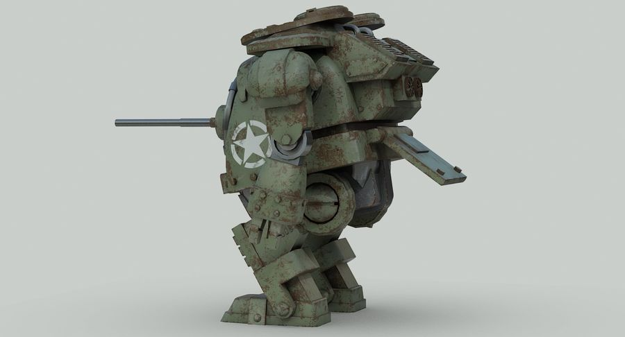 Robot walczący Grizzly M8 royalty-free 3d model - Preview no. 7