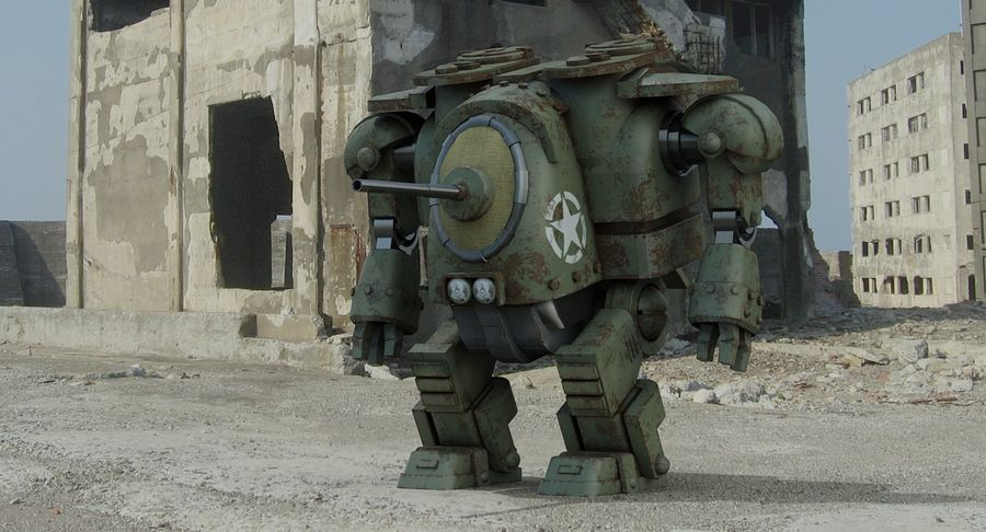 Robot walczący Grizzly M8 royalty-free 3d model - Preview no. 3