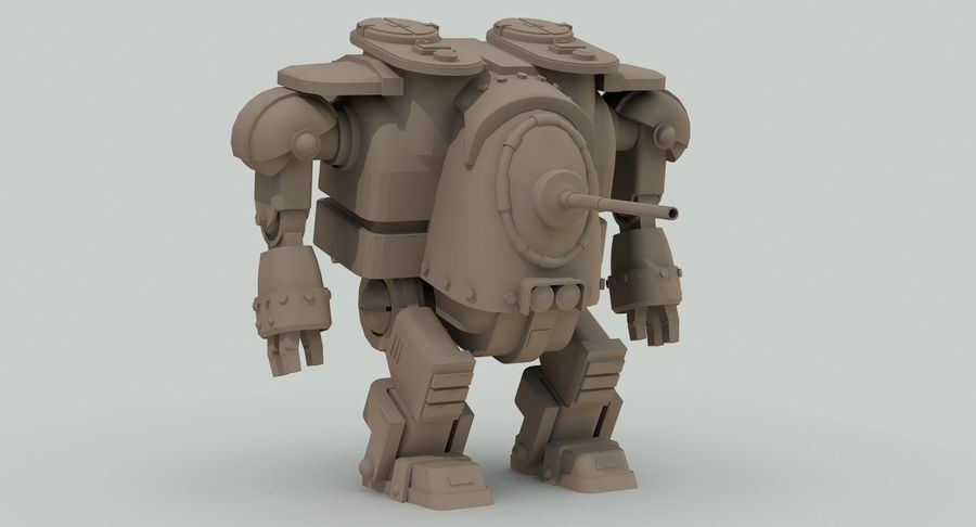 Robot walczący Grizzly M8 royalty-free 3d model - Preview no. 17