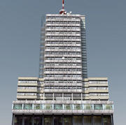 Modernistisches Hochhaus 3d model
