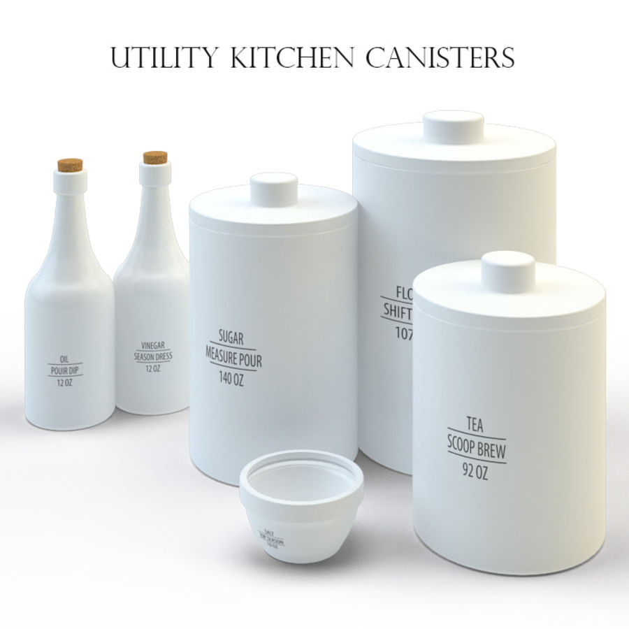 Kitchen accessories royalty-free 3d model - Preview no. 1