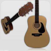 Guitarra acústica sem corda 3d model