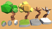 Low Poly Art Nature Pack 3d model
