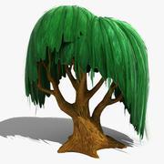 만화 버드 나무 3d model