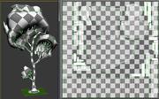 Cartoon Aspen or Birch Tree 3d model