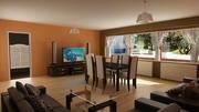 Jadalnia i pokój dzienny 3d model