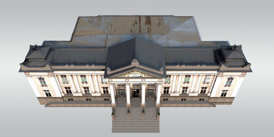 Bâtiment public classique royalty-free 3d model - Preview no. 6