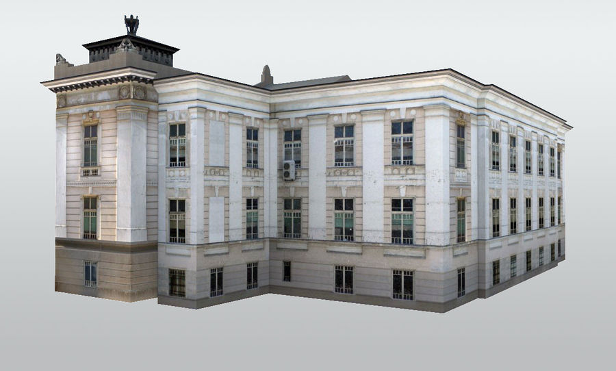 Bâtiment public classique royalty-free 3d model - Preview no. 2