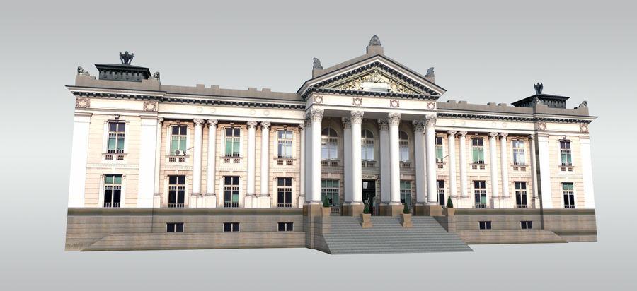 Bâtiment public classique royalty-free 3d model - Preview no. 1