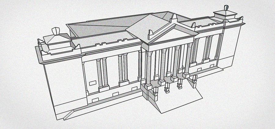 Bâtiment public classique royalty-free 3d model - Preview no. 7