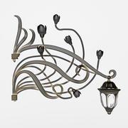 wrought iron lamp 3d model