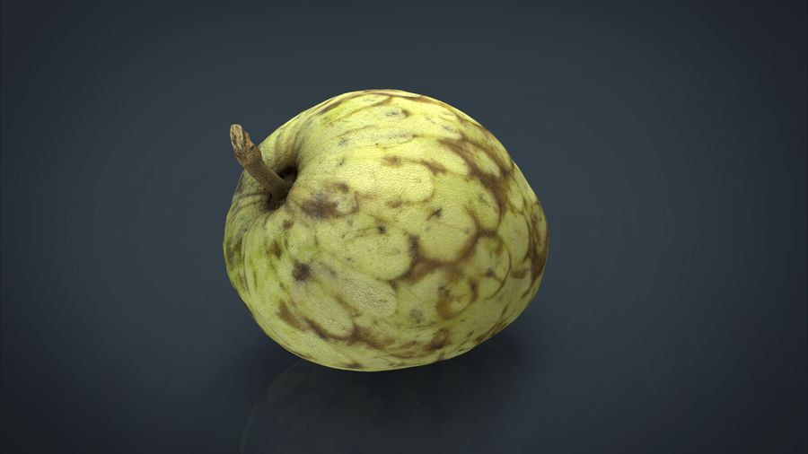 Vaniljsås äpple royalty-free 3d model - Preview no. 3