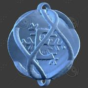3D Boże Narodzenie Ornament Alfabet E. 3d model