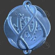 3D Boże Narodzenie Ornament Alfabet W. 3d model