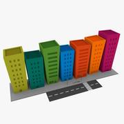 만화 거리 3d model