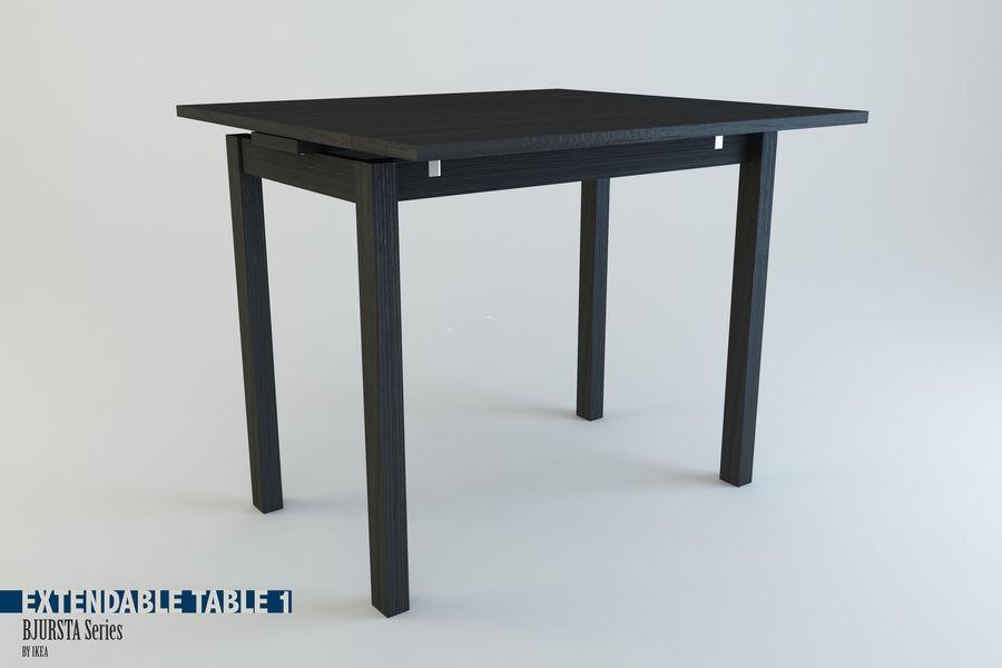 Extendable Table Bjursta Series Ikea 3d Model 10 Obj Fbx Dxf 3ds C4d Free3d
